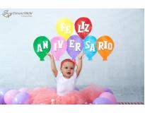 ensaio fotográfico do bebê comendo o bolo no Ibirapuera