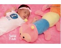 ensaio fotográfico mensal do bebê no Ibirapuera