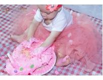 onde encontrar ensaio fotográfico do bebê comendo o bolo na Paraíso